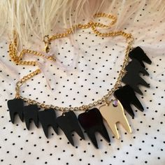Black Sweet Tooth Necklace by imyourpresent on Etsy