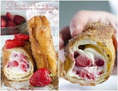 DIY Make Delicious Strawberry Cheesecake Chimichangas
