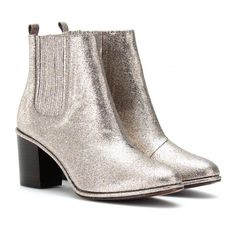 Opening Ceremony Brenda Glitter Covered Ankle Boots (6 290 UAH) ❤ liked on Polyvore featuring shoes, boots, ankle booties, opening ceremony, confetti glitter, leather ankle booties, leather ankle bootie, leather booties, round toe boots and round toe ankle boots