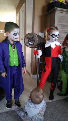 Harley Quinn and The Joker Costume for Kids.