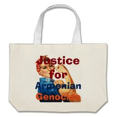 Armenian Genocide Tote Bag Jumbo Tote Bag #ArmenianGenocide Visit www.zazzle.com/monstervox for more Armenian Genocide products