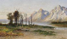 John Fery (1859–1934), Jackson Lake in Wyoming, 1894, oil on canvas, 35.5 x 59 in, JHAA 2012 Sold: $18,400