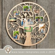 Photo Frame - Ideas That Produce Nice Photos Irrespective Of Your Abilities! Family Tree Photo, Family Tree Frame, Creative Photo Frames, Photo Frame Design, Photo Frame Ideas, Laser Cutter Projects, Tree Templates, Collage Picture Frames, 3d Laser