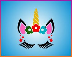 Cricut, Unicorn Face, Cute Poster, Silhouette, Iron On Transfer, Clipart, Svg File, Coloring Books, Something To Do