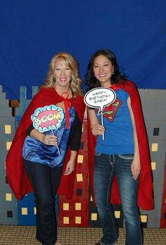 Love the andersruff superhero printables and now they added photo booth props. Must do one day.