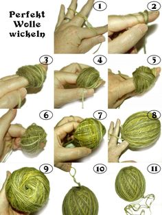 Perfectly wrap wool without a winder-Perfekt Wolle wickeln ohne Wickler Perfect wool wrap without winder More - Knitting Dolls Free Patterns, Knitted Dolls Free, Knitting Designs, Beginner Knitting Projects, Diy Sewing Projects, Crochet Projects, Spinning Wool, Hand Dyed Yarn, Tutorials