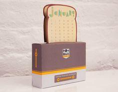 Tastee Toaster Desktop Calendar 2013 by DooDaaStudio