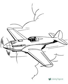 Free printable airplane coloring pages, coloring sheets and pictures. Online Coloring Pages, Free Printable Coloring Pages, Coloring Book Pages, Coloring Pages For Kids, Coloring Sheets, Adult Coloring, Airplane Sketch, Airplane Drawing, Colorful Drawings