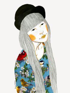 Bird Lover- mixed media