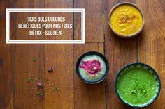 Trois bols colorés bénéfiques pour nos foies : un éventail d'astuces pour repenser des cures de détox en douceur ♡
