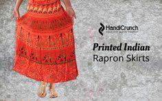 Elegant traditional wear #skirts for adorable range, we have a lots of designs of #rajasthaniprint @HandiCrunch