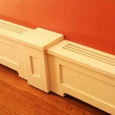 How to Assemble and Install Your Wood Heater Cover Baseboard Heater Covers, Baseboard Heating, Stairs And Staircase, Staircase Design, Spiral Staircases, Wood Baseboard, Baseboards, Narrow Hallway Decorating, Radiator Cover