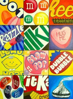Pop art for kids 70 Super Ideas Middle School Art Projects, Art School, School Fun, Arte Pop, Classe D'art, Tableau Pop Art, 7th Grade Art, Inspiration Art, Candy Art