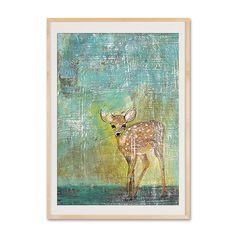 Gemaltes Rehkitz Poster  von VintagePaperGoods - GreenNest auf DaWanda.com