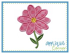 Flower Applique. Maybe put word on some of the petals.