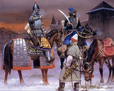 Russian warriors from the time of Ivan the Terrible