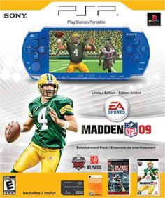 PlayStation Portable Limited Edition Madden NFL 09 Entertainment Pack- Metallic Blue #gameuniverse #videogames #gamer #psp #ps2 #ps3 #playstation