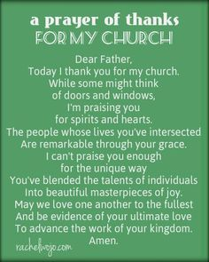 God has used his people to keep me close to him and grow in my faith.So today I'm scribbling a prayer of thanks. Maybe someone in your church needs to know how thankful you are for them!: