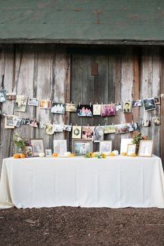 String yourself a clothesline and hang up those pictures and create a time line for the Grad…everyone is going to love it