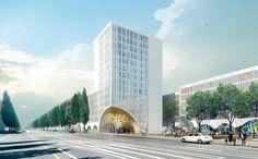 Hotel on Leopoldstrasse in Munich by schmidt hammer lassen architects