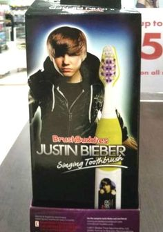 Brush Buddies Justin Bieber Singing Toothbrush ---- hilarious jokes funny pictures walmart fails meme humor