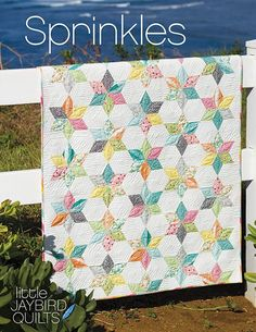 Have you been keeping an eye out for a new baby quilt pattern to add to the mix? Meet Sprinkles Baby Quilt! This fun new little pattern is shipping to local quilt shops this week.   Quilt Details Fabr