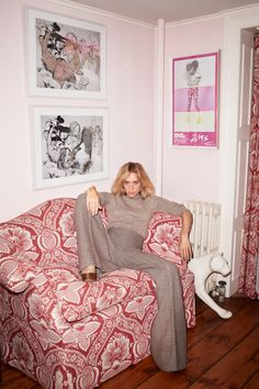 Chloe Sevigny smoking up the house for Purple Magazine #14.