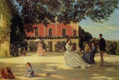 """Frédéric Bazille, """"La Terrasse à Méric"""""""