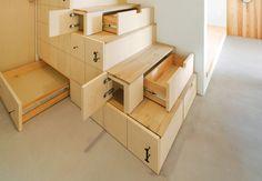 original diseño de escaleras con cajones