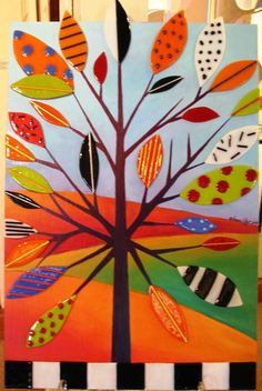 Love this for fall! Lines, shapes, patterns, colors!