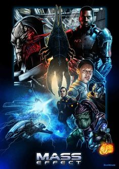 Mass Effect Trilogy Fan-Art Done In The Style of Star Wars Posters by on deviantART Mass Effect 4, Mass Effect Games, Mass Effect Universe, Mass Effect Poster, Video Game Art, Video Games, Mass Effect Characters, Star Wars Poster, To Infinity And Beyond