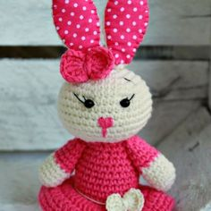 If you'd like to crochet a bunny amigurumi which looks like a pink baby princess, then this free Bunny Amigurumi Pattern is for you!