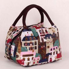 b10a25b30 Nylon Color Spliced Animal Prints Tote Bag