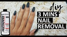 HOW TO: REMOVE FAKE NAILS AT HOME IN 3 MINS | fastest way to remove fake nails & gel polish at home - YouTube Take Off Gel Nails, Remove Fake Nails, Remove Shellac Polish, Take Off Acrylic Nails, Fake Gel Nails, Fake Nails With Glue, Acrylic Nails At Home, Get Nails, Glue On Nails