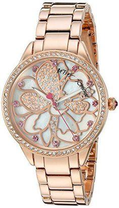 Betsey-Johnson-Womens-BJ00572-01-Analog-Display-Quartz-Rose-Gold-Watch
