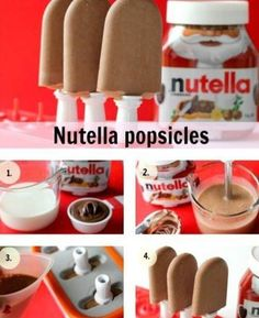 Nutella Posicles diy easy diy diy food kids diy diy party favors diy snacks diy desert diy popsicles