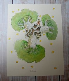 The Little Prince The Baobabs Children's Book by VintagePaperology