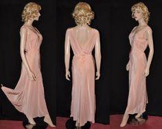 No Vacancy! 1940s NWT 'Lady Duff' Bias-Cut Rayon Nightgown Sz-38 (#1347)