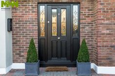 Need Composite Doors? We are Dublin's leading Front Doors experts. Visit our website to see our Exterior doors. Glass Panel Door, Glass Front Door, Glass Panels, Composite Front Door, Black Front Doors, Contemporary Front Doors, House Front Door, Front Door Design, Exterior Doors
