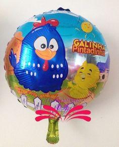 Veja nosso novo produto Kit 10 Balões metalizados Galinha Pintadinha 45 cm! Se gostar, pode nos ajudar pinando-o em algum de seus painéis :)