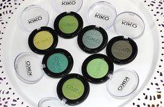 Green Kiko eyeshadows http://www.talasia.de/2015/05/02/7-shades-of-green-kiko-lidschatten/