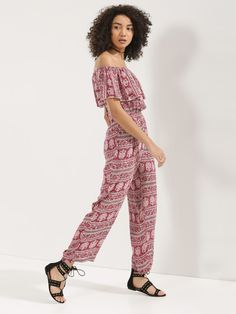 a210629b4d Buy Printed Front Ruffle Jumpsuit For Women - Women s Print Jumpsuits Online  in India