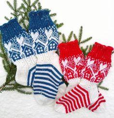 Neulojat loihtivat nyt upeita mökkisukkia! Katso kuvat versioista ja poimi ideoita   Kodin Kuvalehti Knitting Socks, Knit Socks, Patterned Socks, Mittens, Ravelry, Christmas Stockings, Projects To Try, Holiday Decor, Inspiration