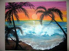 Sunset beach  Artist: My Cousin!