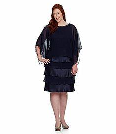 SL Fashions Woman Sequin Tiered Jacket Dress #Dillards | Dresses ...