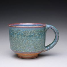 handmade pottery mug teacup ceramic cup with by rmoralespottery