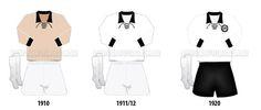 Camisas do Corinthians na primeira década de existência