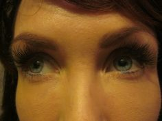 A full set of A combination of Mink and Silk Eyelash Extensions done by Christine Reed.