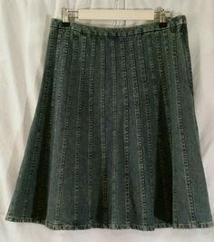 Christopher & Banks Denim Skirt 100% Cotton Size 8 #ChristopherBanks #Asymmetrical