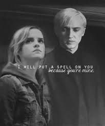 Image result for Draco Malfoy and hermione Granger